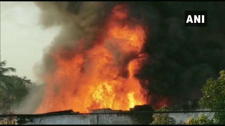 Fire at Thane