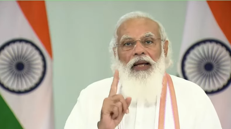 PM Modi addressing the nation on the one year anniversary of NEP