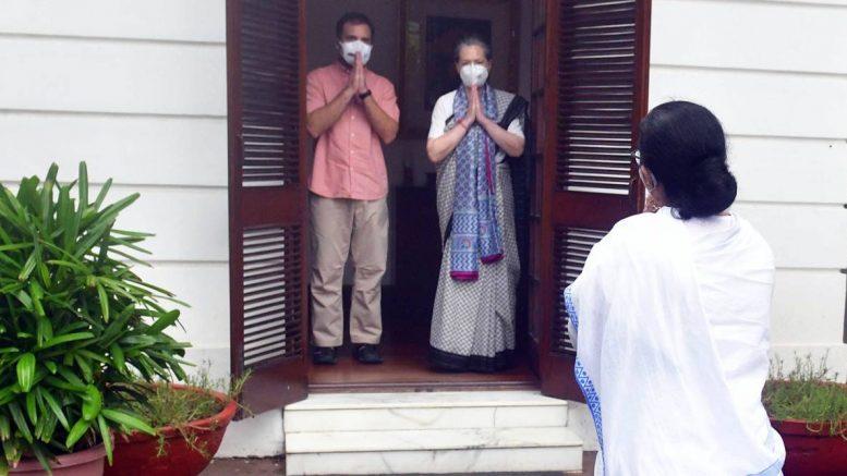 Mamata Banerjee visiting Rahul and Sonia Gandhi